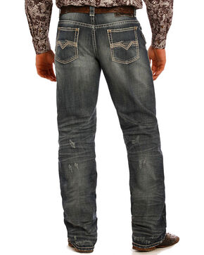 Rock & Roll Cowboy Men's Performance Jeans - Straight Leg, Dark Blue, hi-res