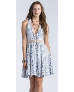 Miss Me Women's White Geo Print Racerback Dress, White, hi-res