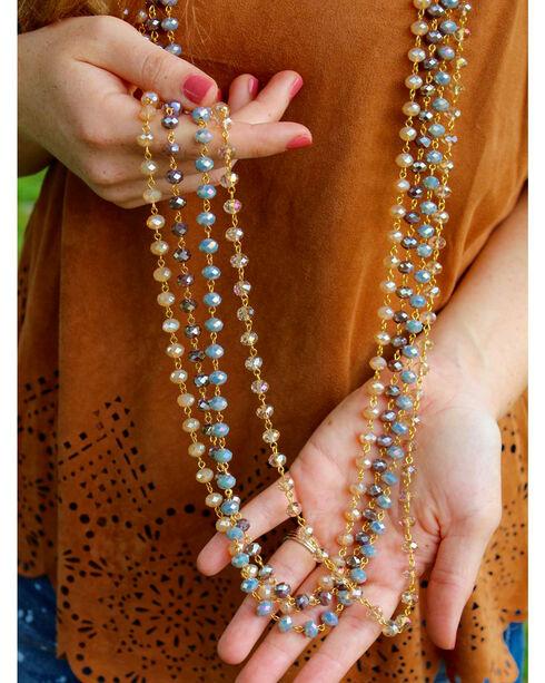 2 Queen B's Women's Plum Crystal Necklace & Earring Set, Purple, hi-res