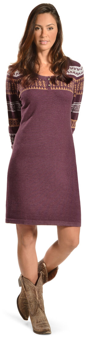 Woolrich Women's Avalanche Henley Sweater Dress, Brown, hi-res