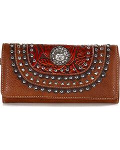 Shyanne Women's Lonestar Studded Wallet, , hi-res