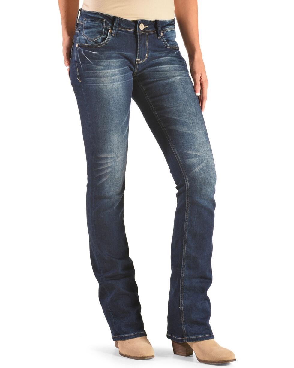 Grace in LA Women's Dark Wash Boot Cut Jeans, Indigo, hi-res