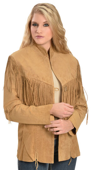 Scully Fringe Suede Leather Jacket, Tan, hi-res