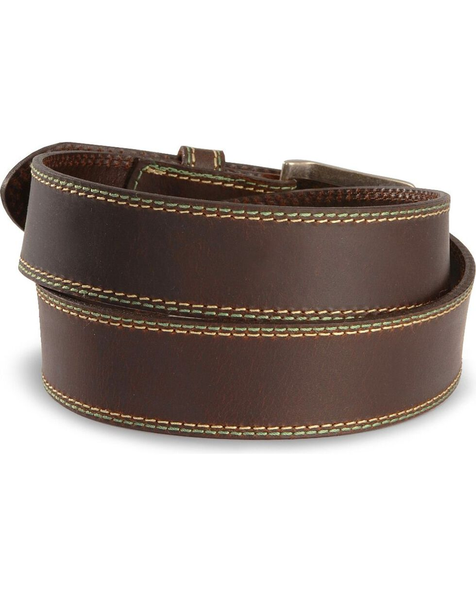 John Deere Leather Belt, Brown, hi-res