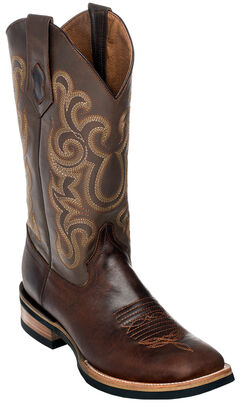 Ferrini Men's Chocolate Maverick Cowboy Boots - Square Toe, Chocolate, hi-res