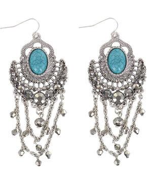 Shyanne Women's Stone Earrings , Silver, hi-res