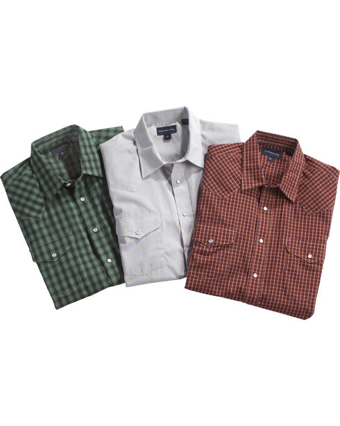 Panhandle Men's Assorted Short Sleeve Plaid Shirt , Multi, hi-res