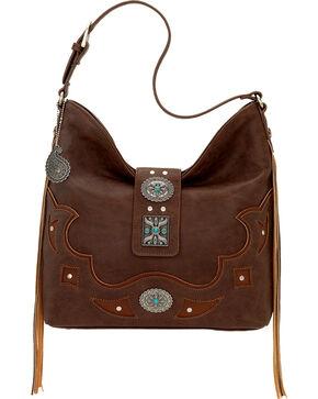 Bandana by American West Lexington Slouch Shoulder Bag, Chocolate, hi-res