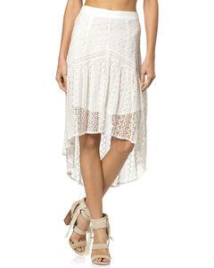 Miss Me Hi-Lo Lace Skirt, Off White, hi-res