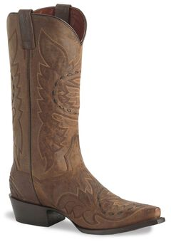 Dan Post Side Winder Distressed Cowboy Boots, , hi-res