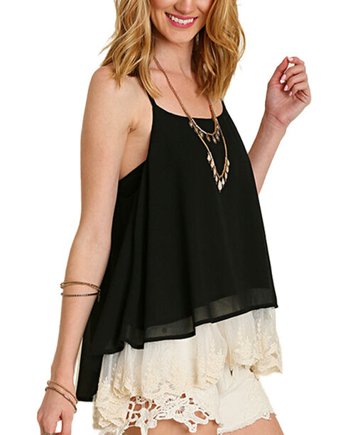 Umgee Women's Black Summertime Lace Top , Black, hi-res