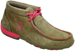 Twisted X Women's Tough Enough to Wear Pink Driving Mocs, Distressed, hi-res