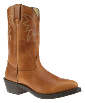 Durango Oiled Peanut Leather Western Boots - Medium Toe, Tan, hi-res