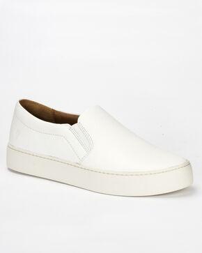 Frye Women's White Lena Slip On Shoes , White, hi-res