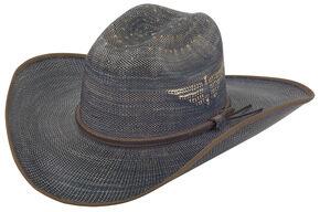 Justin Men's Bent Rail Blue Fenix Straw Hat, Blue, hi-res