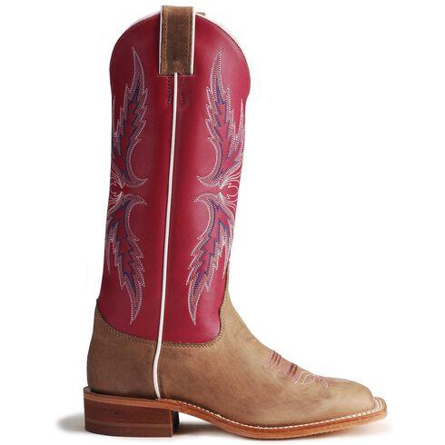 Justin Bent Rail Hot Pink Cowgirl Boots - Square Toe, Tan, hi-res