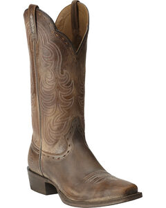 Ariat Antique Brown Good Times Cowgirl Boots - Square Toe, Antique Brown, hi-res