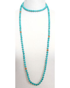Everlasting Joy Women's Texas Wrap Necklace, Turquoise, hi-res