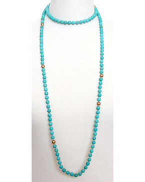 Everlasting Joy Women's Texas Wrap Necklace, Turquoise, hi-res