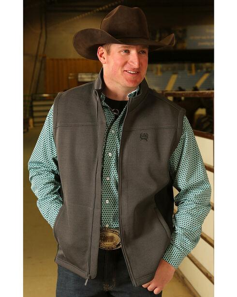 Cinch Men's Bonded Sweater Knit Vest, Grey, hi-res