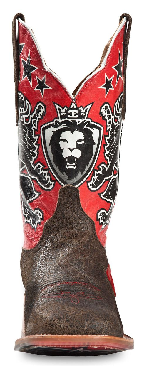 Cinch Edge Leon Cowboy Boots - Square Toe, Black, hi-res
