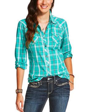 Ariat Women's Maverick Plaid Long Sleeve Snap Shirt, Multi, hi-res
