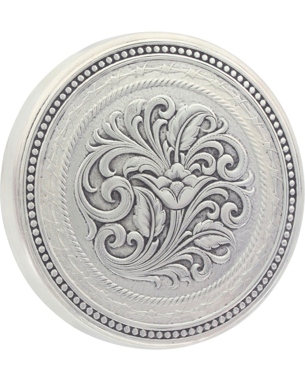 Montana Silversmiths New Traditions Stars and Barbed Wire Snuff Lid, Silver, hi-res