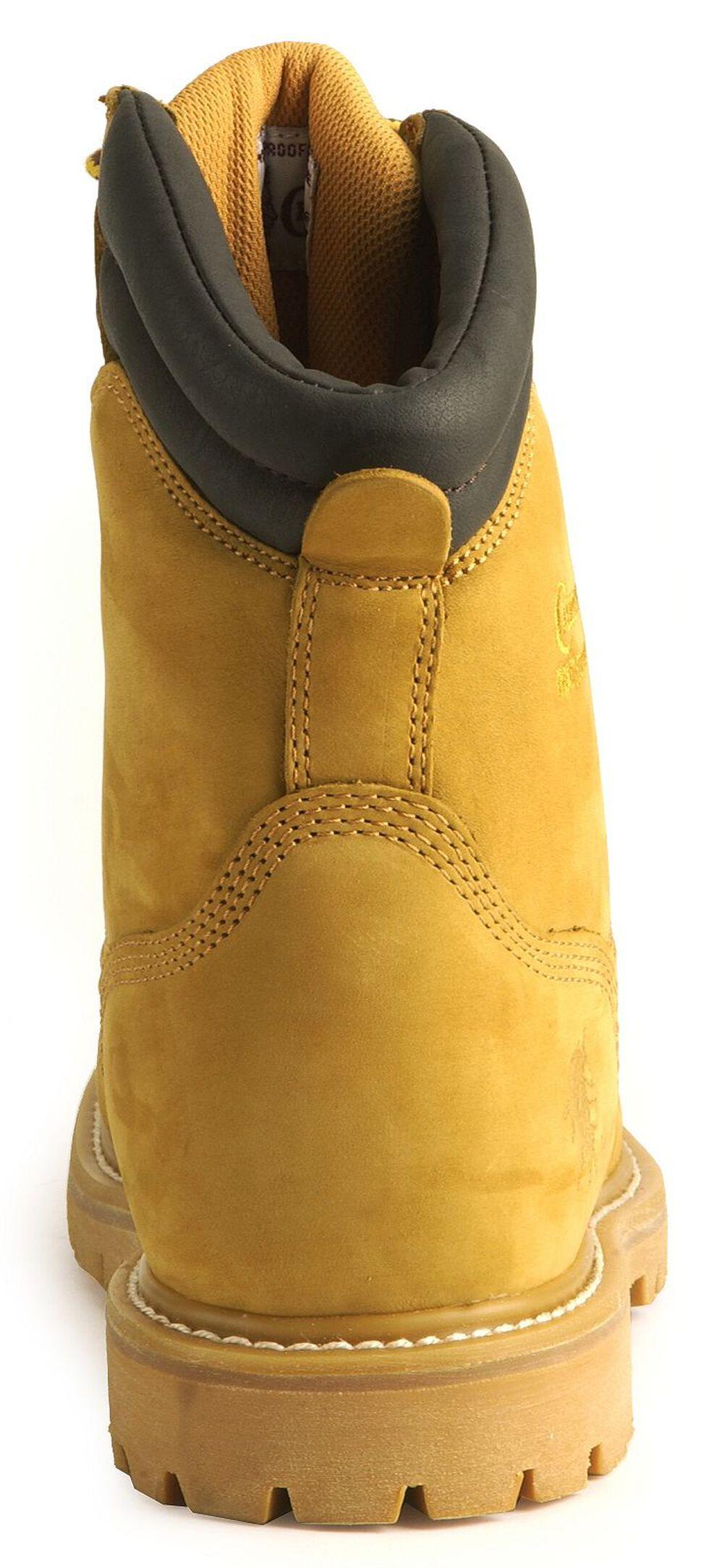 "Chippewa IQ Waterproof 8"" Lace-Up Work Boots - Steel Toe, Nubuck, hi-res"