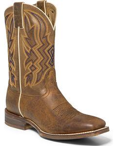 "Nocona Men's 11"" Vintage Cowboy Boots - Square Toe, Brown, hi-res"