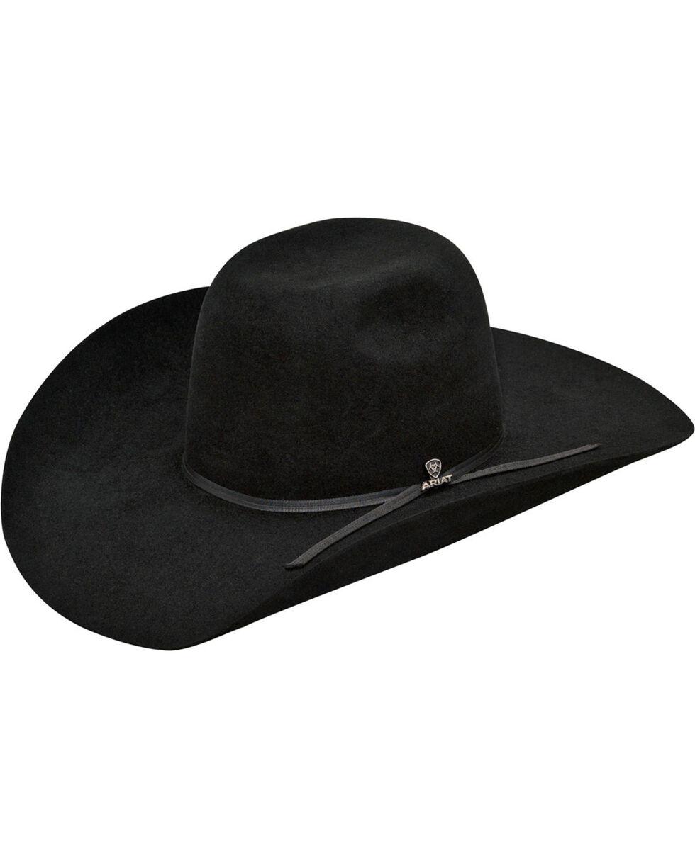 Ariat Men's 6X Fur Felt Cowboy Hat, Black, hi-res
