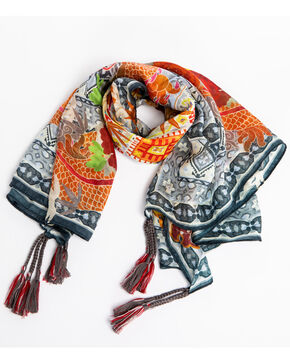 Johnny Was Women's Dralion Silk Scarf, Multi, hi-res