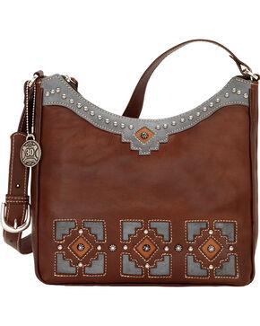 American West Annie's Secret Zip-Top Hidden Compartment Shoulder Bag, Chestnut, hi-res