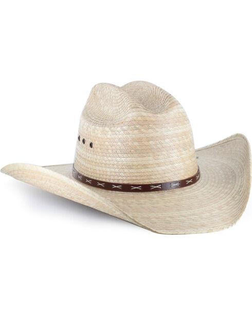 Justin Bent Rail Men's Gunman Cowboy Hat, Natural, hi-res