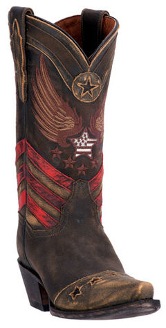Dan Post Distressed Brown N'Dependence Cowgirl Boots - Snip Toe , , hi-res