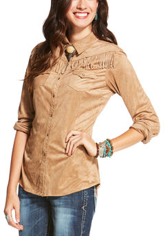 Ariat Women's Tan Shasta Snap Shirt , Tan, hi-res