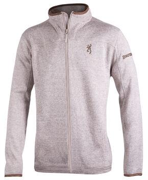 Browning Men's Oatmeal Full-Zip Laredo Fleece Sweater, Natural, hi-res