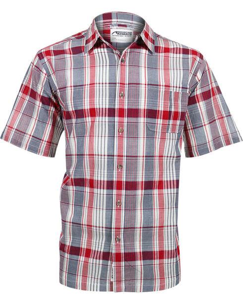 Mountain Khakis Men's Red Tomahawk Madras Shirt , Red, hi-res