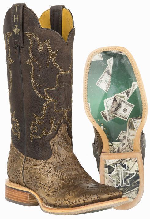 Tin Haul Blue Hawaii Cowboy Boots - Square Toe , Tan, hi-res