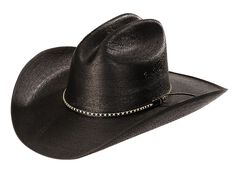 Jason Aldean Asphalt Straw Cowboy Hat, Black, hi-res