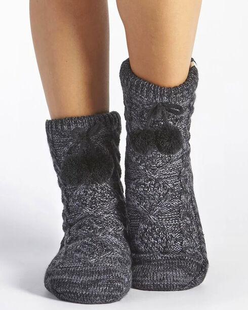 UGG Women's Grey Pom-Pom Crew Socks , Grey, hi-res
