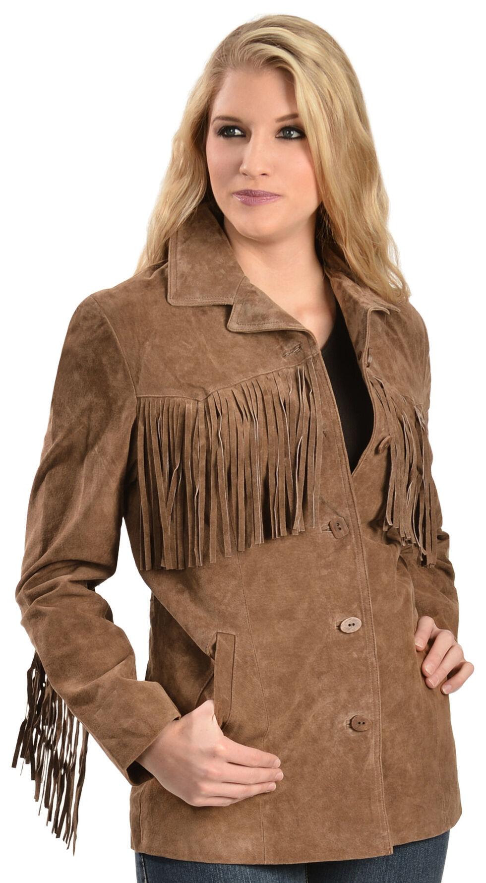 Scully Boar Suede Fringe Jacket, Cinnamon, hi-res