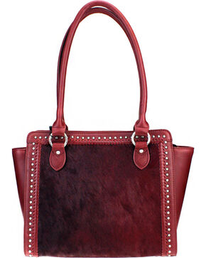Montana West Burgundy Delila 100% Genuine Leather Hair-On Hide, Burgundy, hi-res