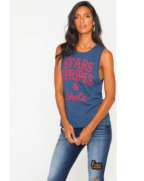 Z Supply Women's Stars, Stripes, & Shots Graphic Tank, Black, hi-res