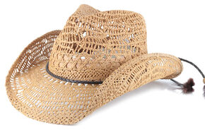 Shyanne Women's Brackley Straw Hat, Tan, hi-res