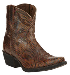 Ariat Sassy Brown Marilyn Short Cowgirl Boots - Snip Toe , , hi-res