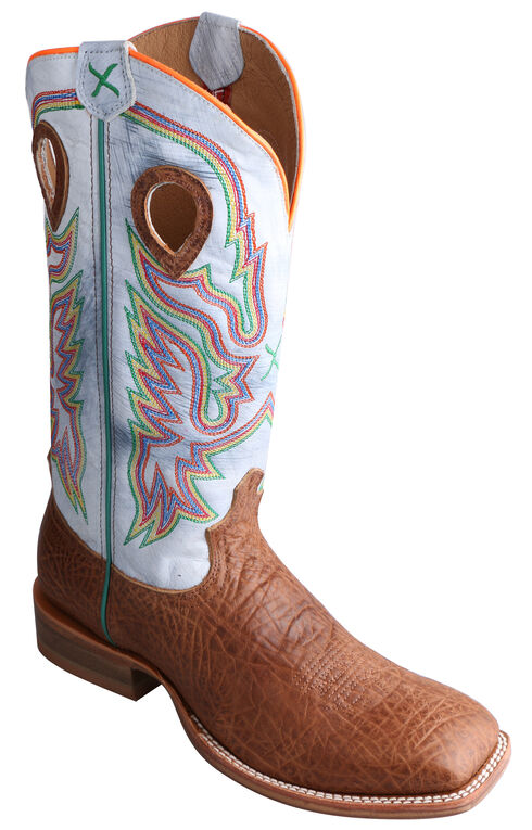 Twisted X Ruff Stock Peanut Brown Cowboy Boots - Square Toe, , hi-res