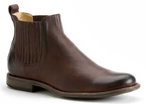 Frye Men's Phillip Chelsea Boots - Round Toe, Dark Brown, hi-res