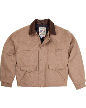 Schaefer Outfitter Men's Taupe Melton Wool Summit Jacket - Big 2X , Taupe, hi-res