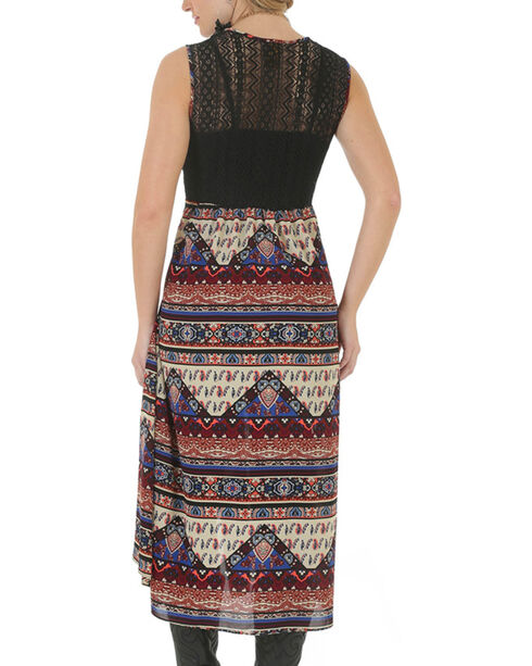 Wrangler Women's Flowing Lace Back Fashion Duster, Multi, hi-res