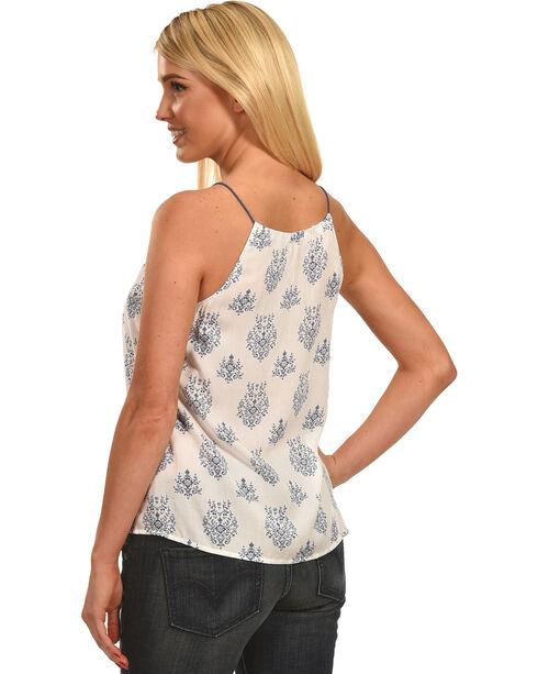 Polagram Women's Pattern Sleeveless Tank Top , White, hi-res